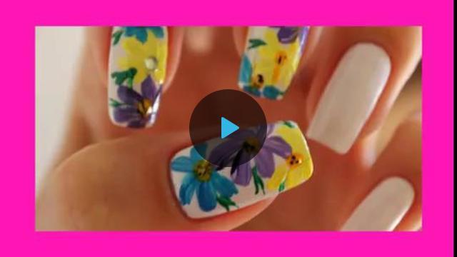 Рисунки на ногтях лаком цветы
